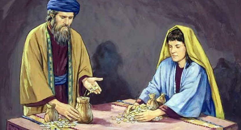 Ananias and Sapphira in the Book of Acts