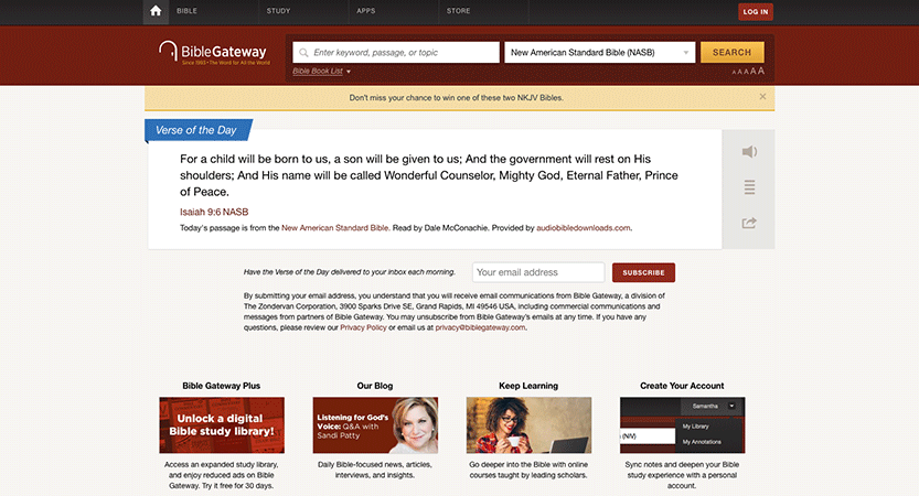 Bible Gateway Accepted My Blog!